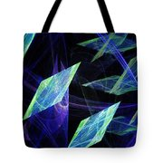 Blue Floating Diamonds Tote Bag