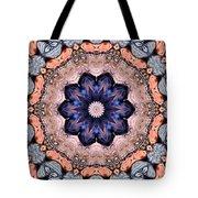 Blue Flora Mandala Tote Bag
