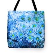 Blue Floral Fantasy Tote Bag