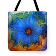 Blue Flower Dressed For Summer Tote Bag by Karin Kuhlmann