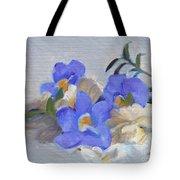 Blue Flower Still Life Tote Bag