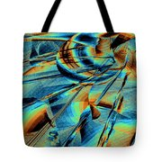 Blue Flowpaper Solarized Tote Bag