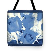 Blue For You Roses Tote Bag