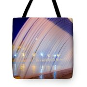 Blue Fountain At Night Tote Bag