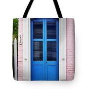 Blue Front Door New Orleans Tote Bag
