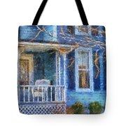Blue Front Porch Photo Art 01 Tote Bag