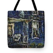 Blue Front Porch Photo Art 04 Tote Bag