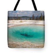 Blue Funnel Spring In West Thumb Geyser Basin Tote Bag