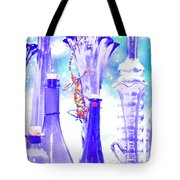 Blue Glass And Gecko Tote Bag