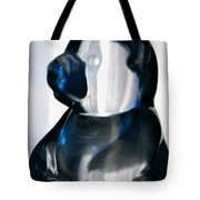 Blue Glass Bear Tote Bag
