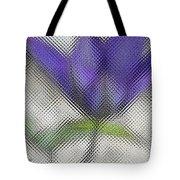 Blue Glass Flower Tote Bag