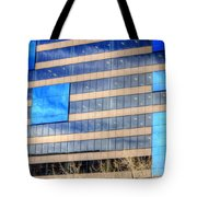 Blue Glass Reflections 4993 Tote Bag