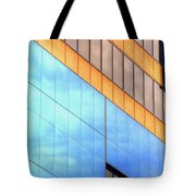 Blue Glass Reflections 4999 Tote Bag
