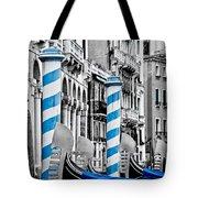 Blue Gondolas Tote Bag