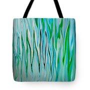 Blue Green Flames Tote Bag