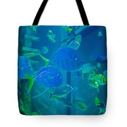 Blue Green Impression Tote Bag