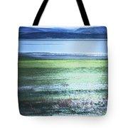 Blue Green Landscape Tote Bag