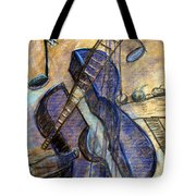 Blue Guitar - About Pablo Picasso Tote Bag