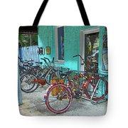 Blue Heaven Key West Bicycles Tote Bag