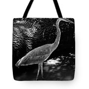 Blue Heron 8bw Tote Bag