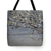 Blue Heron And Fish   #9619 Tote Bag