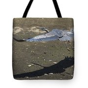 Blue Heron And Shadow Tote Bag