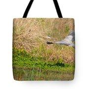 Blue Heron And The Black Bird Tote Bag