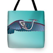 Blue Heron Flight Tote Bag