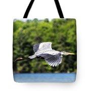 Blue Heron In Flight II Tote Bag