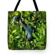 Blue Heron In Mangroves Tote Bag