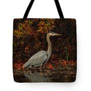 Blue Heron In The Fall Tote Bag