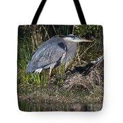Blue Heron On The Hunt Tote Bag