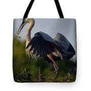 Blue Heron Wing Tips Tote Bag