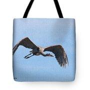 Blue Herons Last Fly By Tote Bag