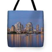 Blue Hour At False Creek Vancouver Bc Canada Tote Bag