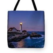 Blue Hour At Portland Head Lighthouse Tote Bag