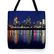 Blue Hour In Cincinnati Tote Bag