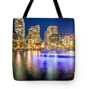 Blue Hour In Vancouver Tote Bag