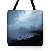 Blue Hour Mist Tote Bag by Mary Amerman