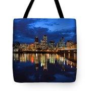 Blue Hour Reflection II Tote Bag