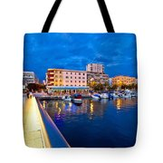 Blue Hour Zadar Waterfront View Tote Bag