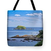Blue House With An Ocean View Tote Bag
