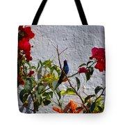 Blue Hummingbird Tote Bag
