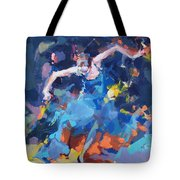 Blue Hurricane Tote Bag