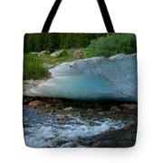 Blue Ice Tote Bag