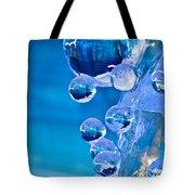 Blue Ice Bubbles Tote Bag