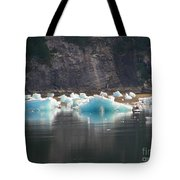 Blue Ice Flows Tote Bag
