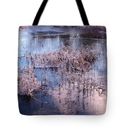 Blue Ice And Reflections Tote Bag