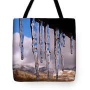 Blue Ice Tote Bag by Rona Black