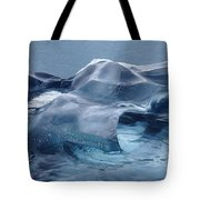 Blue Ice Sculpture Tote Bag